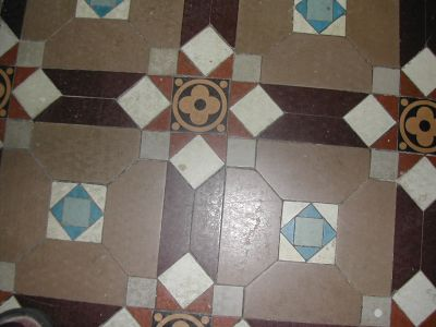 detail of Victorian floor tiles
