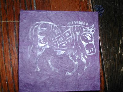 cover with horse stamp on