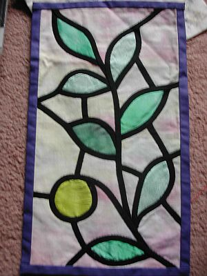 Stained Glass Window Applique
