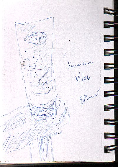 drawing of a tube of suncream