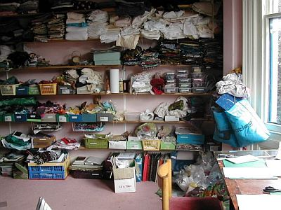 lots of shelves of fabric