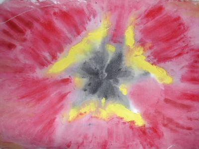 tulip painting on fabric with acrylic paint