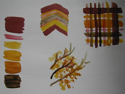 designs based on colours in above photo