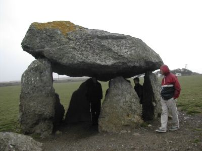 megalith with people...