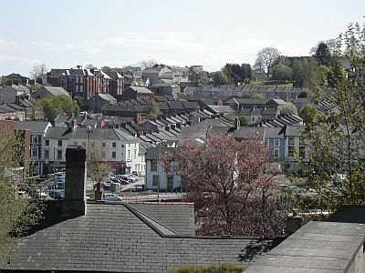 rows of terraced houses on hill