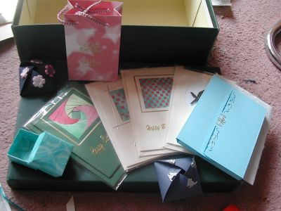 cards, boxes etc