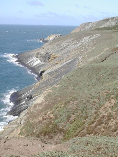 very sheer cliffs on Skomer island