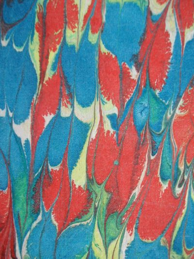 detail of marbled fabrics